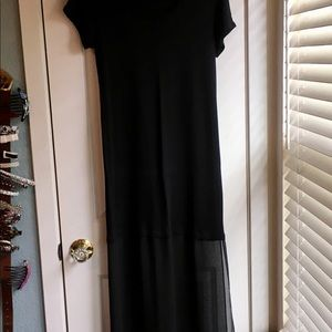 BCBG Maxazira s/m black sheer T-shirt dress